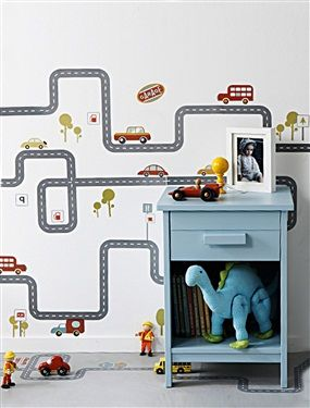 62 stickers circuit voitures gar on v hiculo chambre b b for Stickers chambre bebe garcon