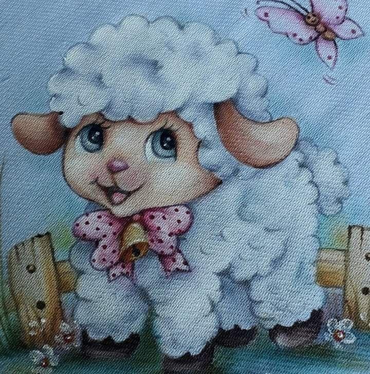 Овца для открытки