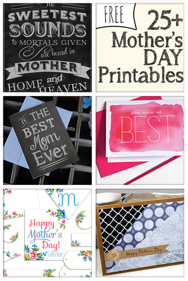 25 best free mothers day printables easy diy. Black Bedroom Furniture Sets. Home Design Ideas