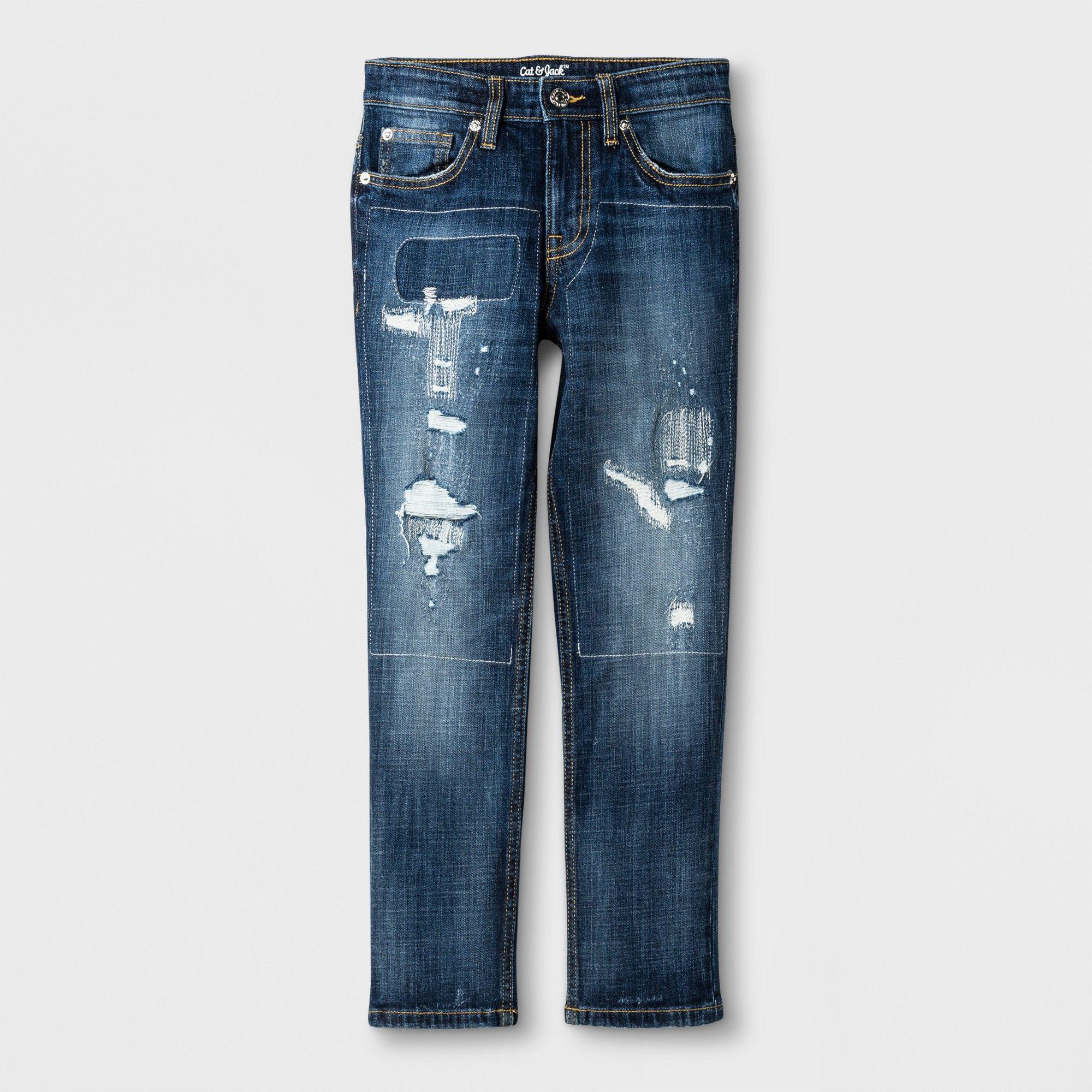 a54298351 Boys' Athleisure Taper Pants - Cat & Jack Dark Blue 6, Size: 14 ...