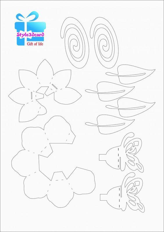 Lotus Flower Pop Up Card 2 Pop Up Card Templates Pop Up Flower Cards Pop Up Flowers