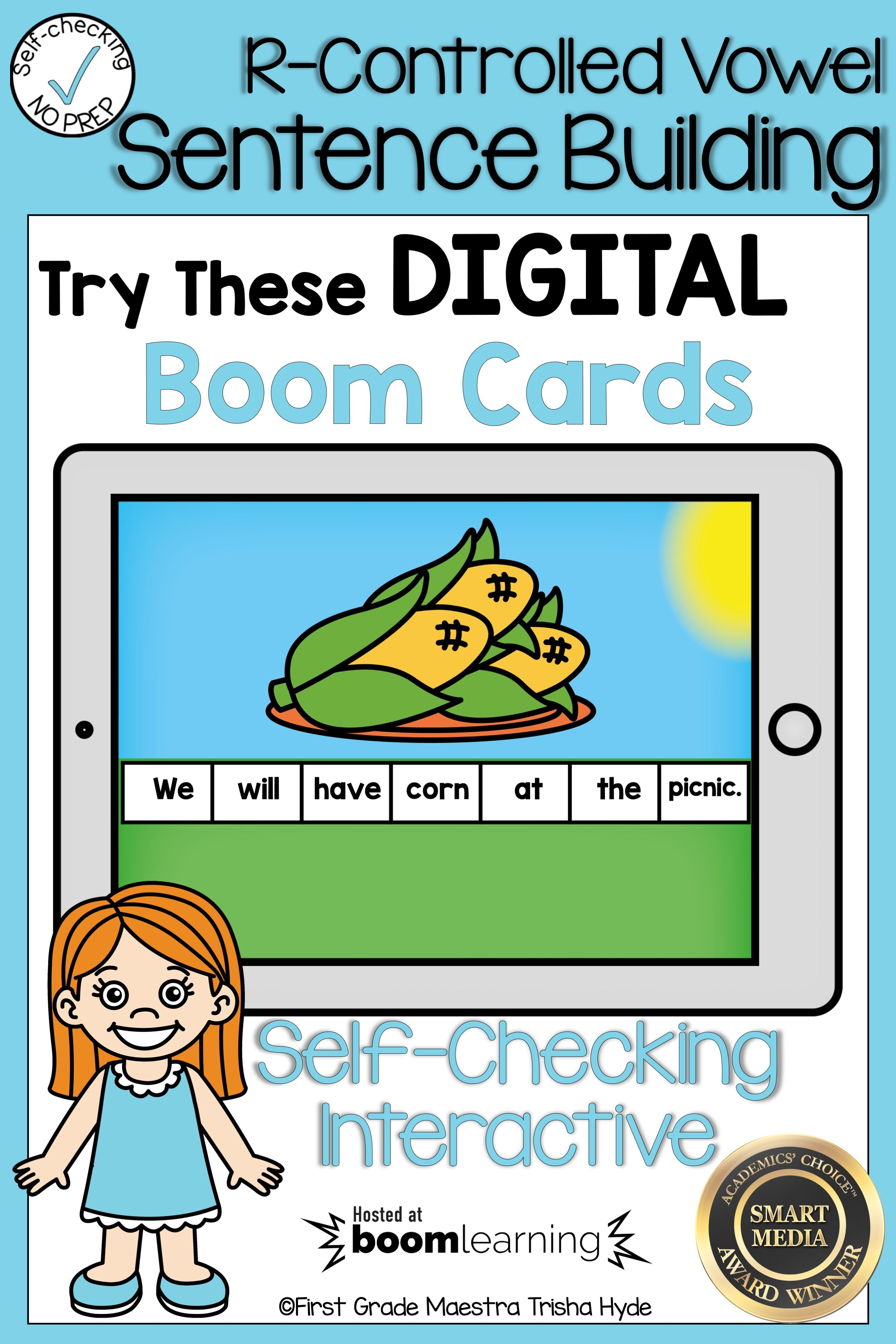 Boom Cards R Controlled Vowel Or Sentence Scrambles
