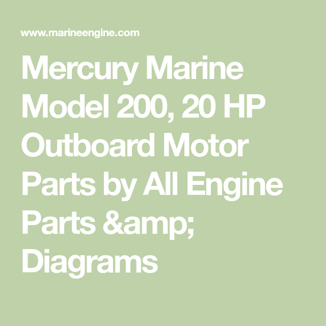 Mercury Marine Model 200 20 Hp Outboard Motor Parts By All Engine Parts Amp Diagrams Outboard Motors Mercury Marine Outboard