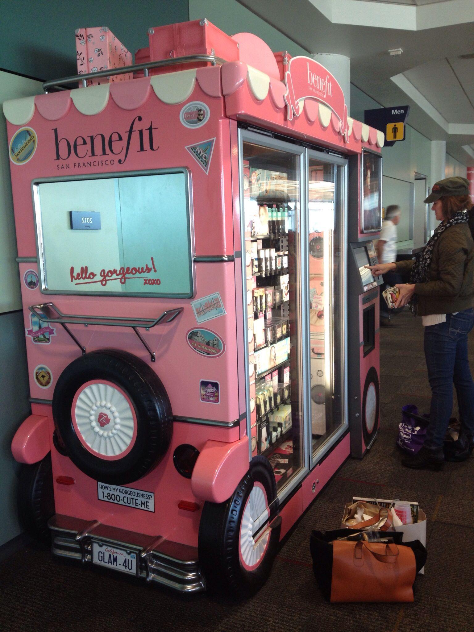 Genius! This little vending machine (Benefit Cosmetics