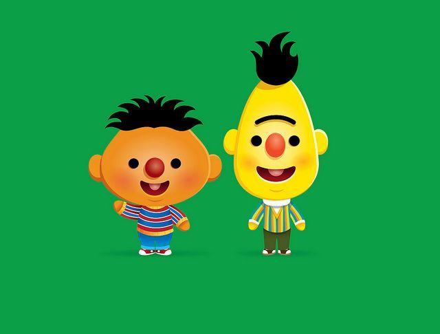 Ernie and Bert by Jerrod Maruyama