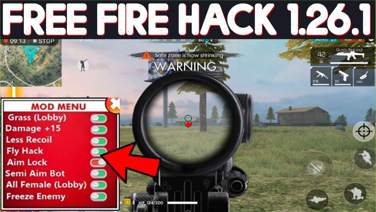 Garena Free Fire Hack Mod Apk 1 26 1 Auto Aim App Data Free Download Game Download Free Diamond Free Play Hacks