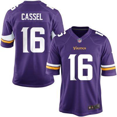 Nike Youth Minnesota Vikings Matt Cassel Team Color Game Jersey ...