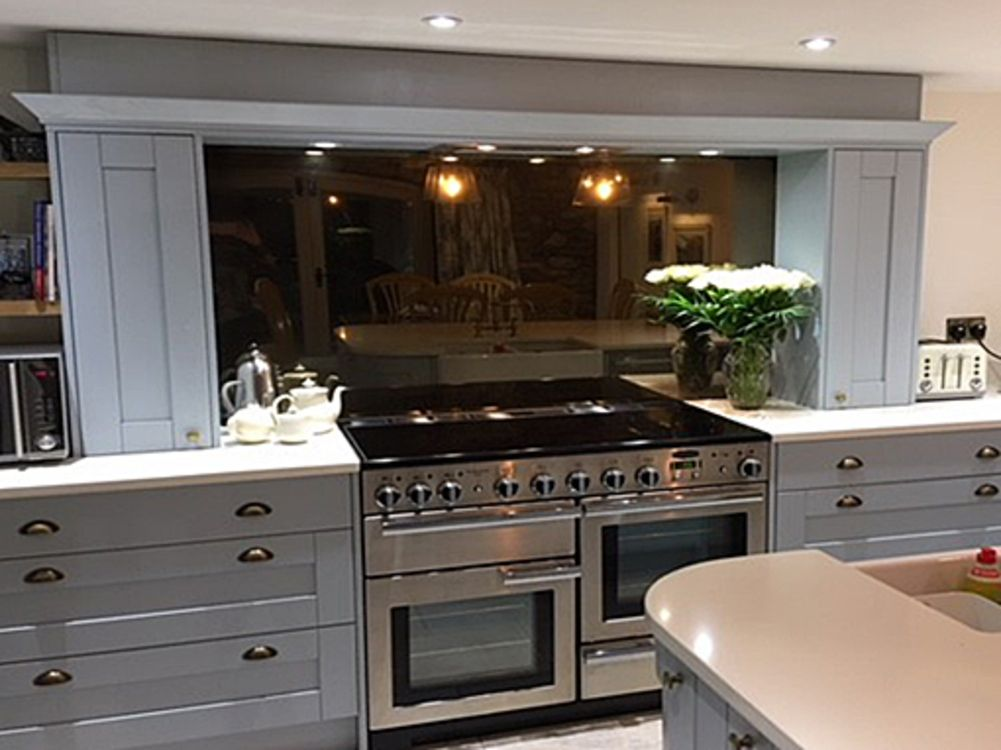 Mirror Backsplash Kitchen, Distressed Mirror Kitchen Tiles