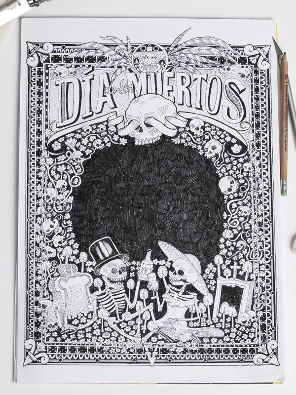 Dia de los Muertos by Corey Silva, via Behance