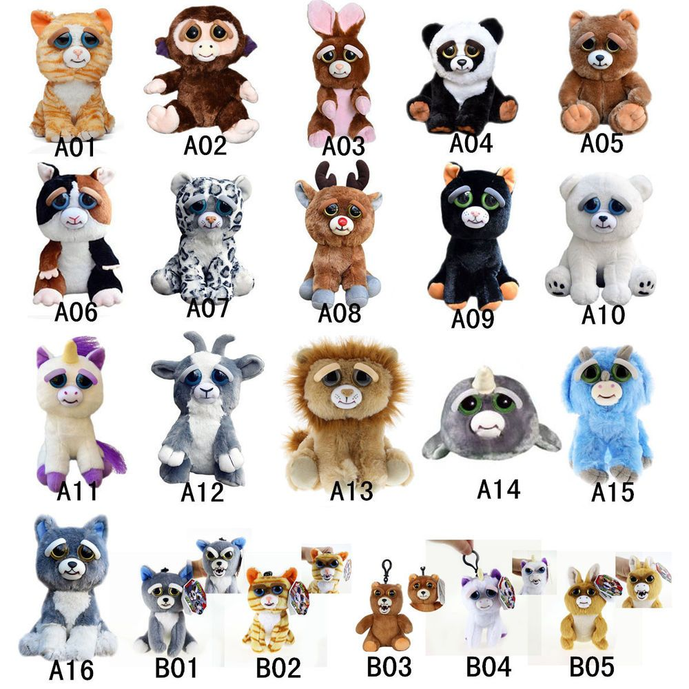 Change Face Feisty Pets William Mark Sammy Glenda Union Plush Dolls Xmas Gift Boo Stuffed Animal Plush Dolls Pets