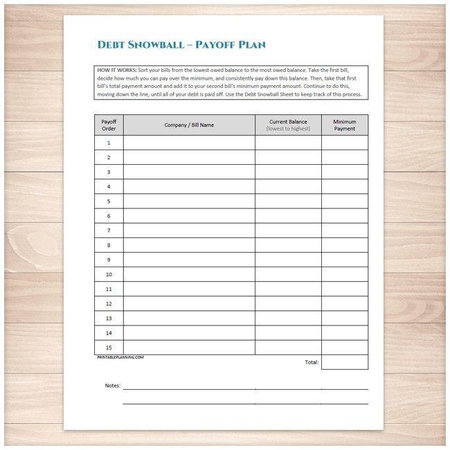 debt payment plan