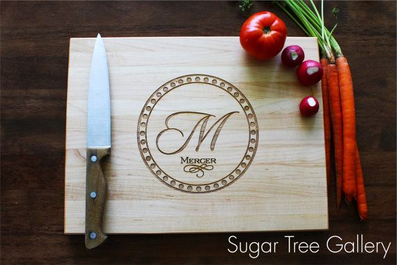 Personalized Cutting Board Custom Personalized by SugarTreeGallery