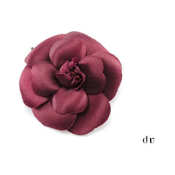 Preowned Chanel Silk Camellia Flower Brooch (195 AUD