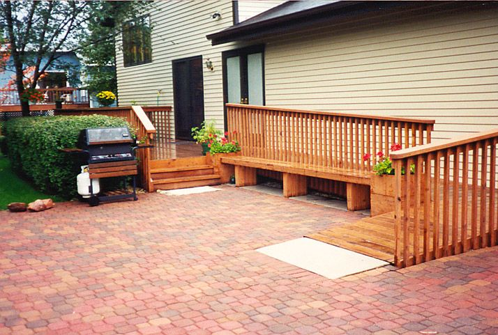 Wonderful This Ramp Is Located At The Back Entrance Of The Home. A Bench Was  Constructed