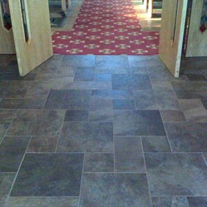 Ceramic Tile That Looks Like Slate For The Mudroom Laundry Room In This Pattern