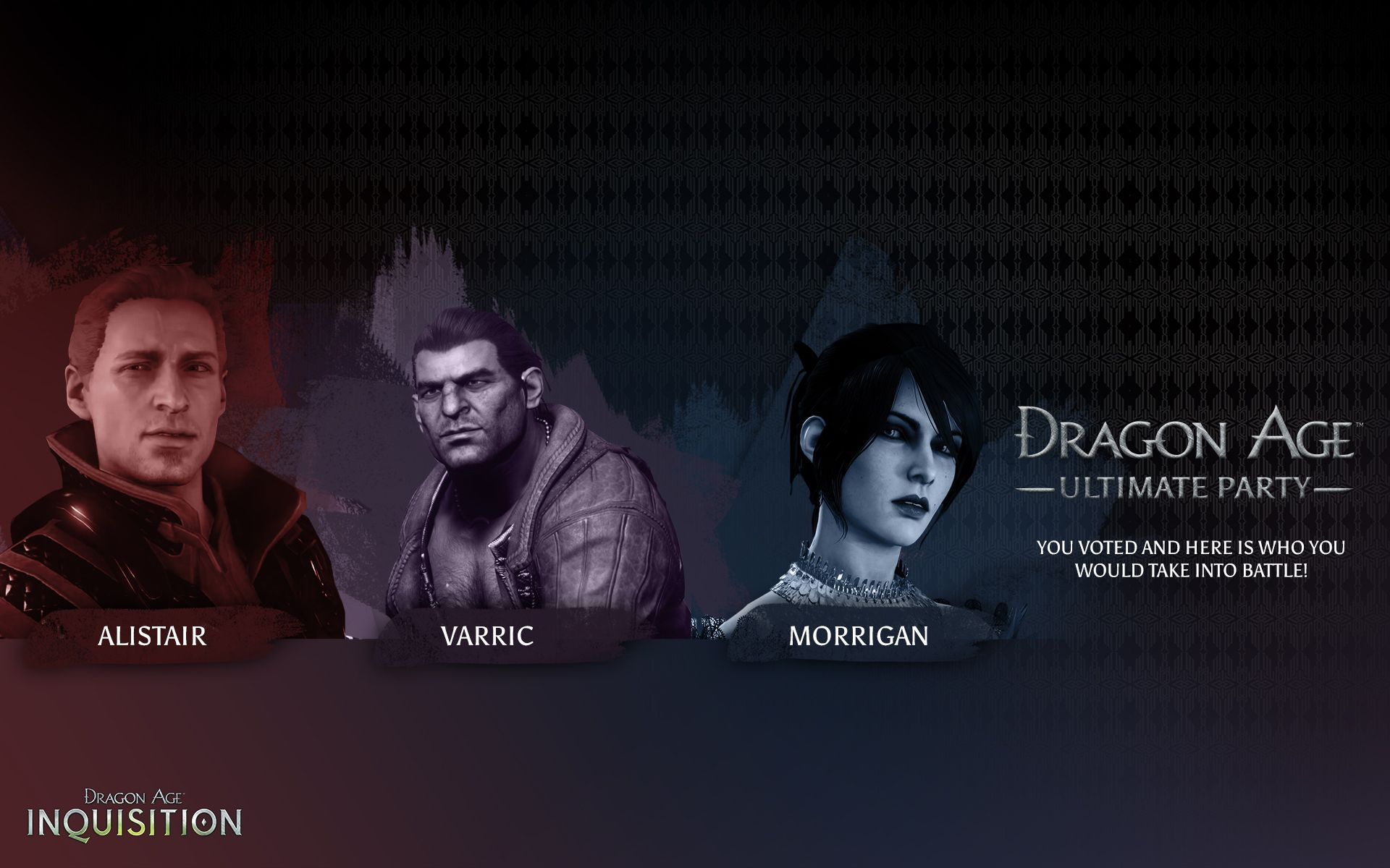 The Ultimate Dragon Age Party An Ultimate Party Deserves An Ultimate Commemorative Wallpaper Dragon Age Dragon Age Origins Dragon Age 3