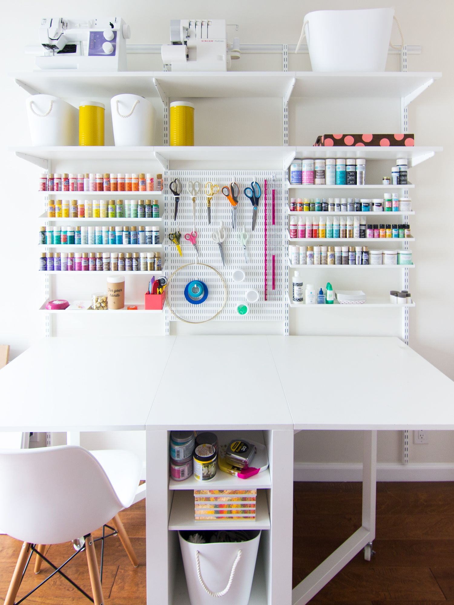 new home office and craft room reveal pegboard craft room craft room storage sewing rooms