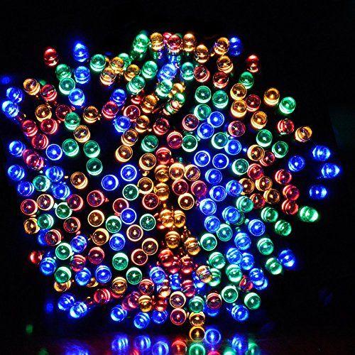 Solar Led String Lights Outdoor Dephen Solar Led String Lights 39Ft 100 Leds 8 Modes Solar