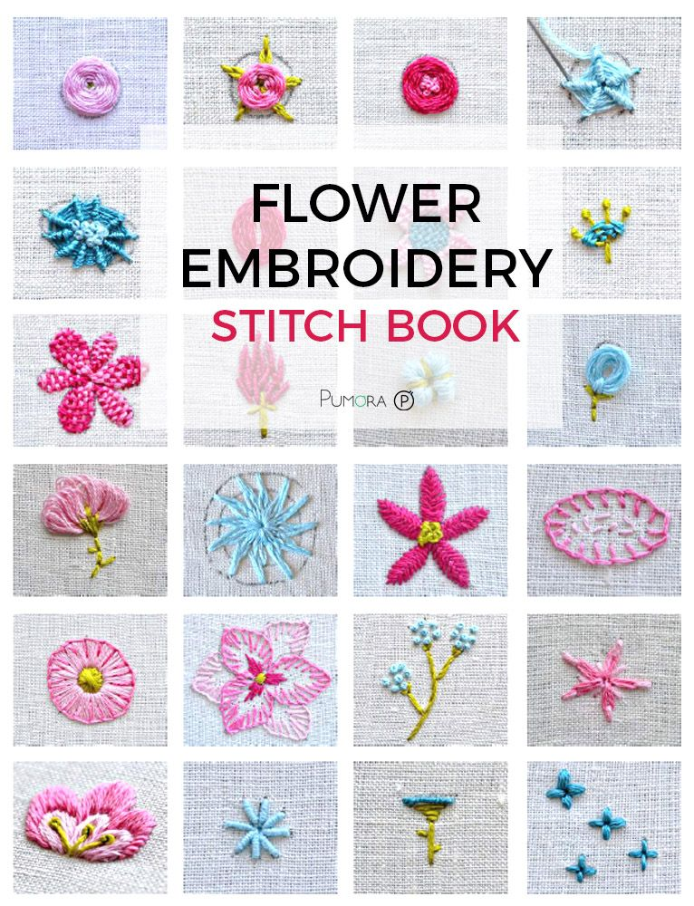flower embroidery tutorial stitch book, botanical embroidery, modern flower wreath embroidery pattern, learn embroidery, beginner embroidery