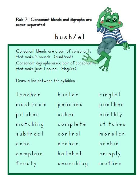 17 Best images about Syllables on Pinterest | Decoding, Type ...