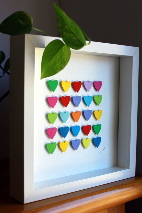 3d Paper Hearts Hearts Home Decor St Valentines Gift