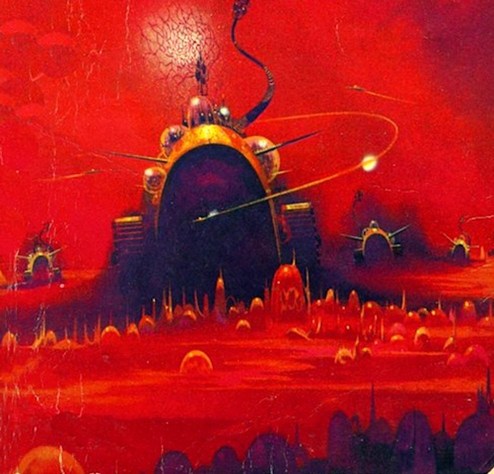 70s Sci-Fi Art: Paul Lehr likes red.