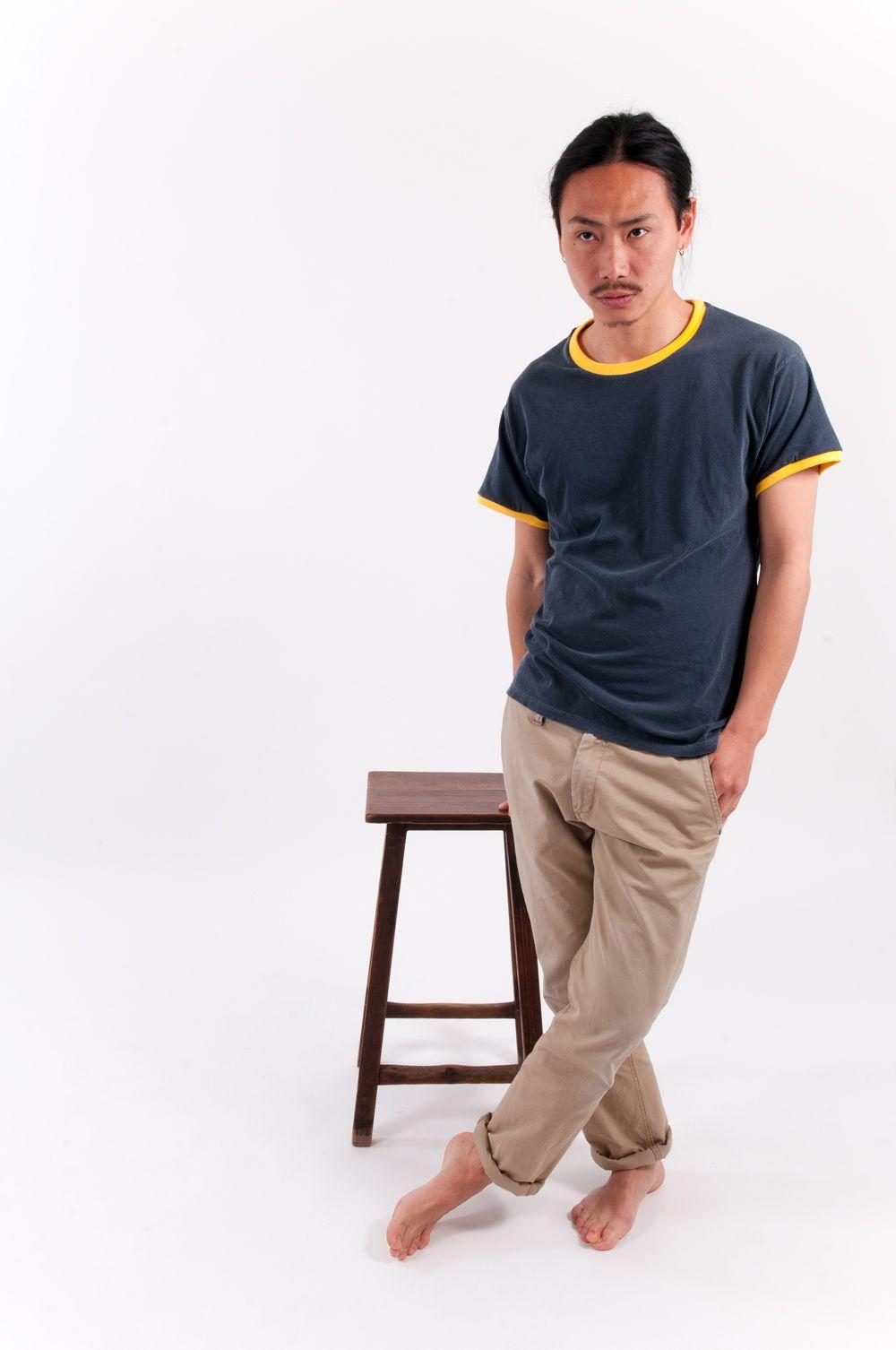 "Two tone: Navy Blue & yellow  ""The summer of 1980"" t-shirt  www.oli13.com/online-shop/   #tshirt #summer #twotone #oli13"