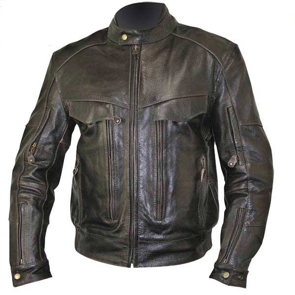 Xelement Men S Retro Brown Bandit Buffalo Leather Cruiser Motorcycle Jacket With Level 3 Armo Best Leather Jackets Leather Motorcycle Jacket Leather Jacket Men
