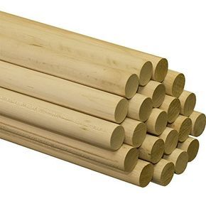 1 2 Inch X 48 Inch Dowel Rods Bag Of 25 Crafts Craft Supplies Arts Crafts Supplies