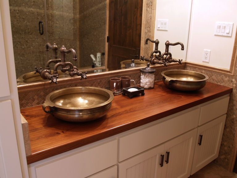 Teak Custom Wood Countertops Butcher Block Countertops Kitchen - Teak bathroom countertop