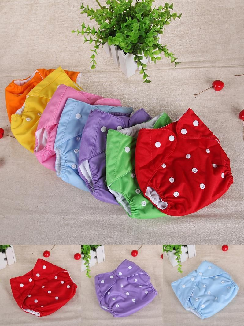 f403802992f5 Visit to Buy  Baby Diapers Washable Reusable Nappies Grid Cotton ...