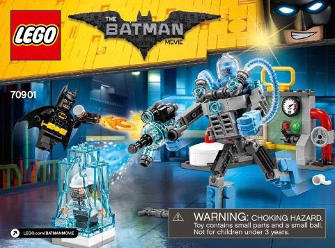 View Lego Instructions For Mr Freeze Ice Attack Set Number 70901 To