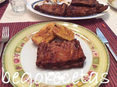 BEGORECETAS -RECETAS CON OLLAS GM Y COCINA TRADICIONAL: Costillas asadas con ketchup y miel (falsa barbaco...