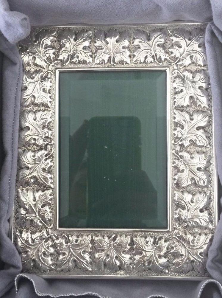 Buccellati Sterling Silver Edera Picture Frame 3 12 X 5 Buccellati