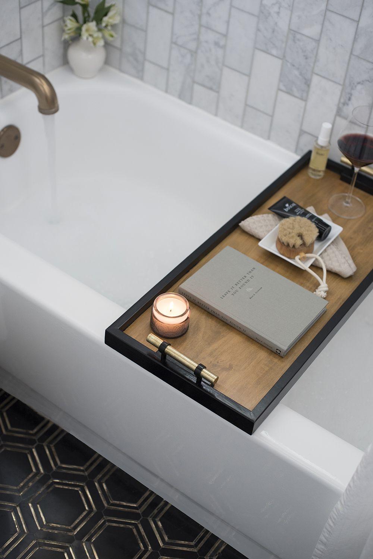 Diy Bath Caddy Tray Tutorial Room For Tuesday Blog Bath Caddy Diy Bath Products Wood Bath Tray [ 1498 x 1000 Pixel ]