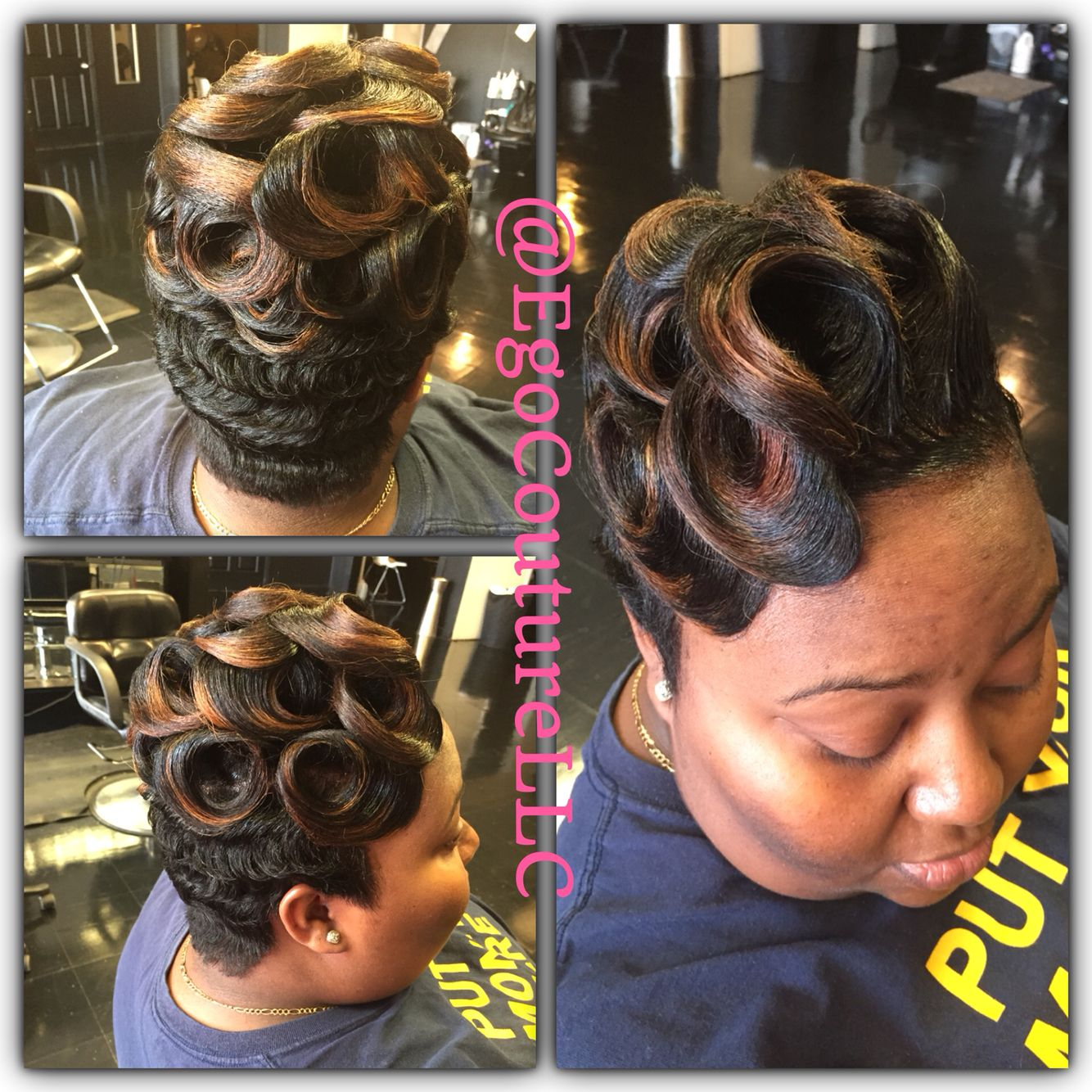 Waves And Pin Curls Finger Wave Hair Quick Weave