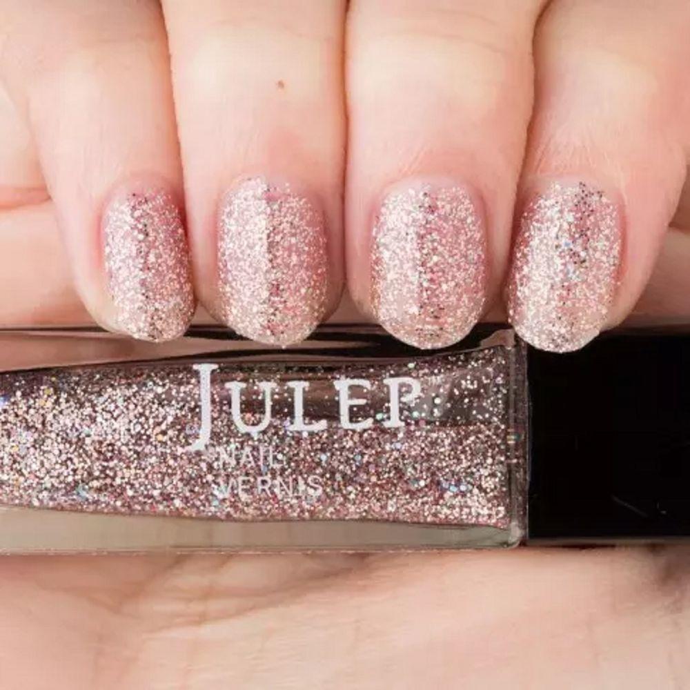 Julep Yumi Nail Color Treat Polish It Pink Silver Holographic Glitter