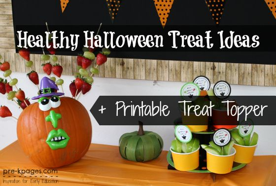 Healthy Halloween Party Treats + Free Printable Healthy halloween - halloween party treats ideas