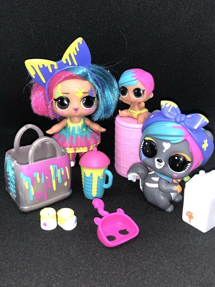 Lol Surprise Lot Splatters Big Lil And Her Fuzzy Pet Color Changing Dolls Affilink Lolsurprise Loldolls Lol Dolls Kids Spa Party Dolls