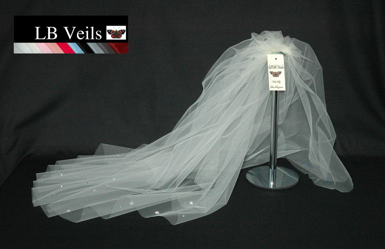Plain Single Tier Wedding Veil Any Length Or Colour LBV143 LB Veils UK