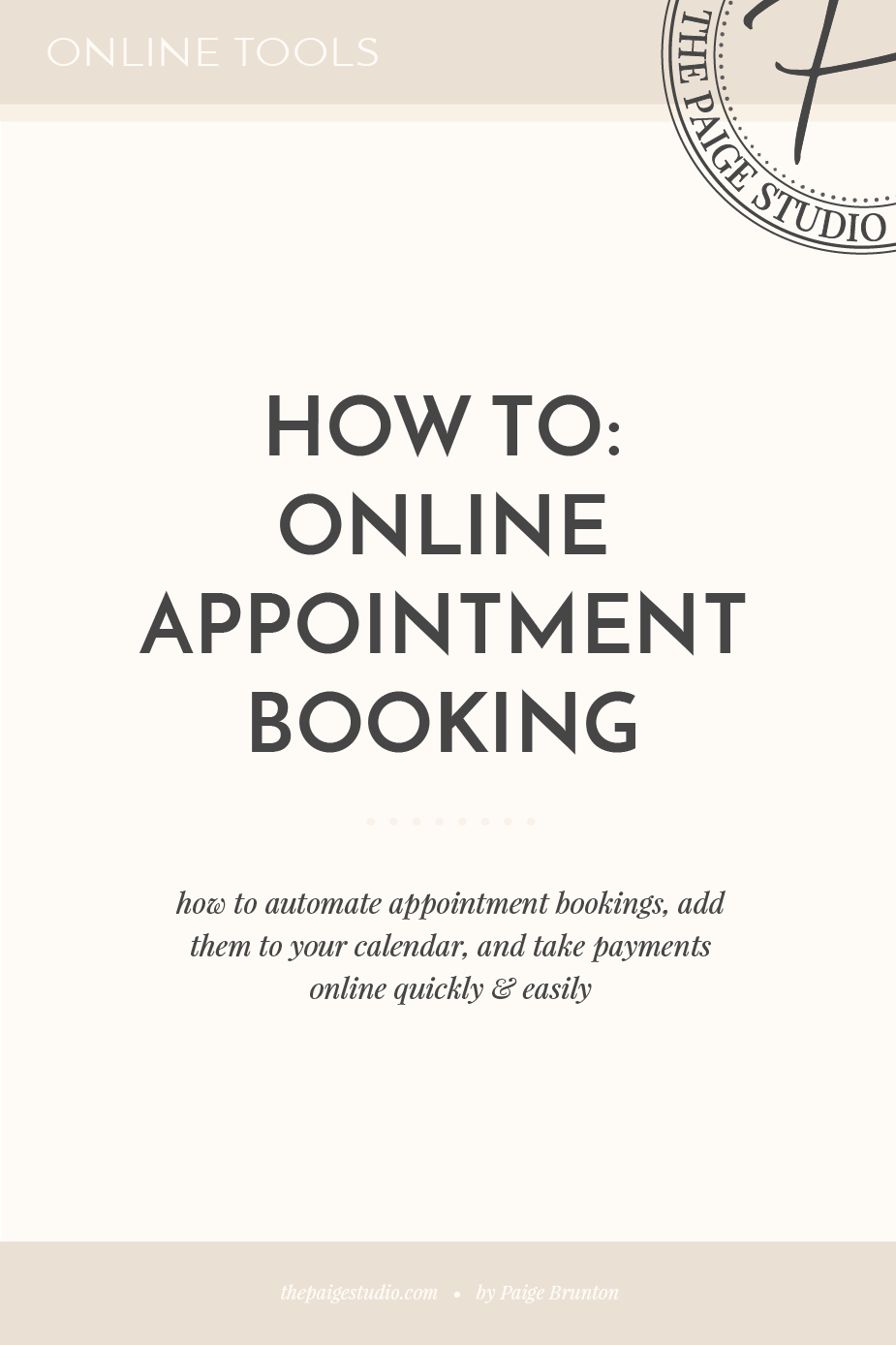 How to automate appointment bookings & take payments on a