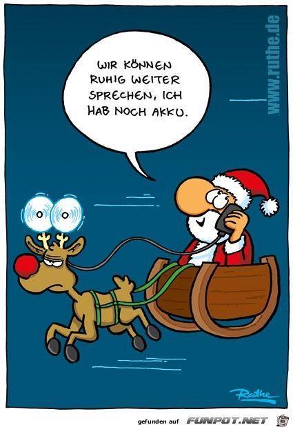 habe akku  weihnachten comic sprüche weihnachten lustig