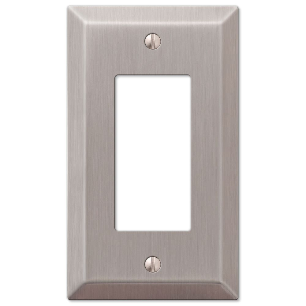 Amertac 163RBN 1 Duplex Brushed Wall Switch Plate
