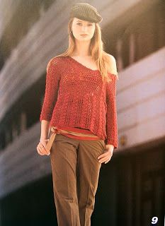 Croche and Other Fricotes: Red Blouse