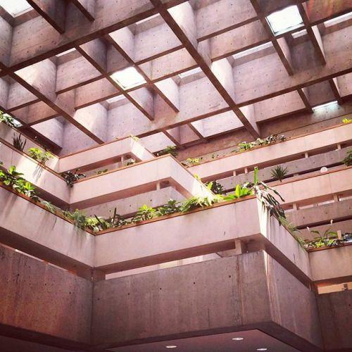 Waffle Slabs Concrete Architecture Roof Architecture Brutalist Architecture