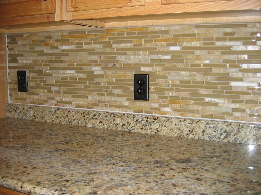 brick backsplash with granite countertops - Google Search ...