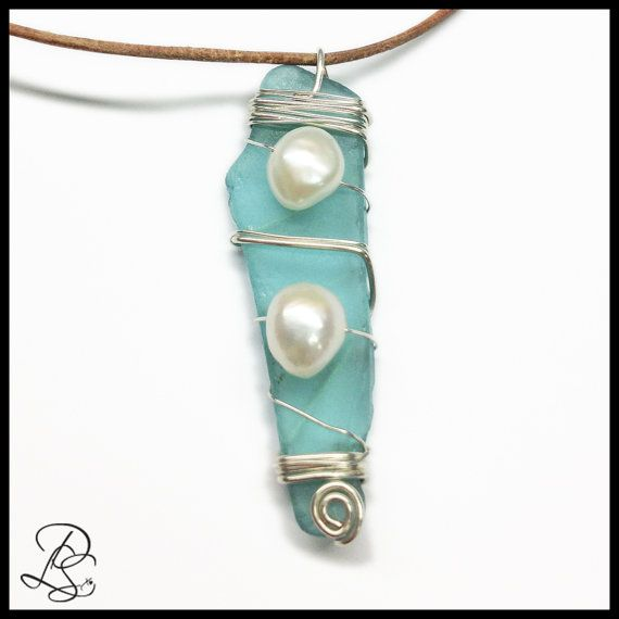 Go to the beach or the ocean with this Necklace, Wire wrapped Sea ...