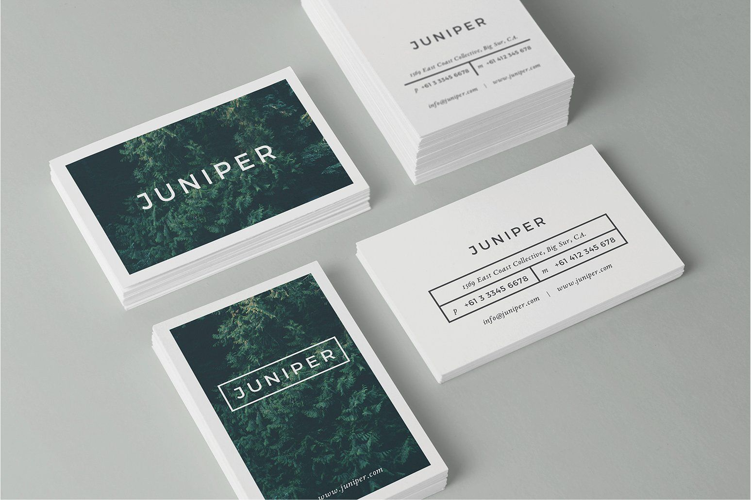 J U N I P E R Business Card Template by 46&2 Collective on ...