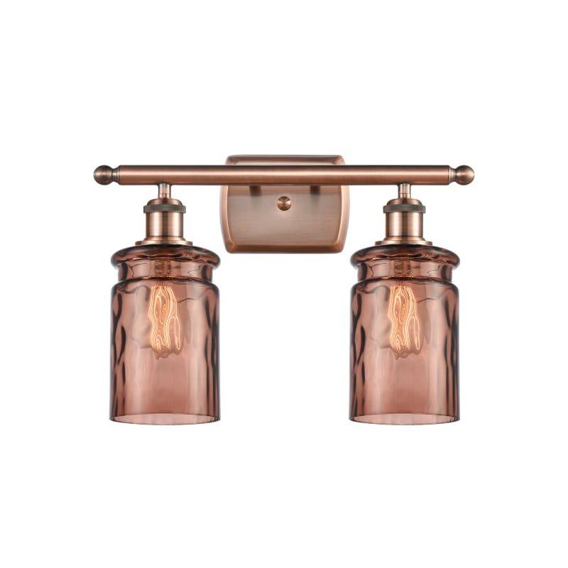 "Photo of Innovations lighting 516-2W Candor Candor 2 Light 16 ""wide bathroom vanity light antique copper / toffee water glass interior lighting bathroom fittings"
