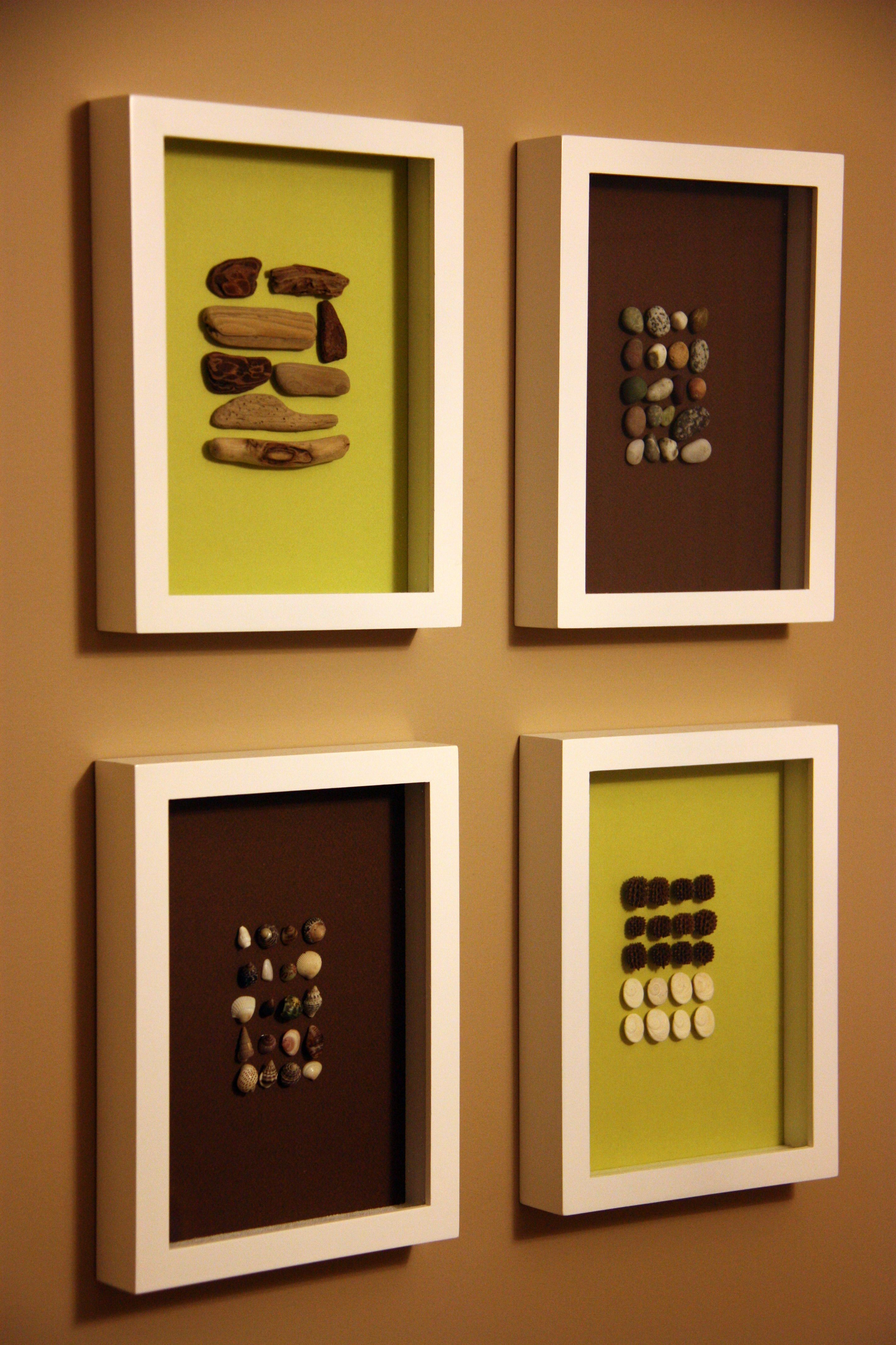 Shadow Boxes (rock display from Canada Trips) - idea only, link just ...